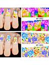 20 Autocollant d\'art de clou Bijoux pour ongles Autocollants 3D pour ongles Fleur Maquillage cosmetique Nail Art Design