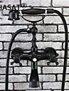 phasat® traditionell brons avsluta 2 handtag badkar Blandare med handdusch