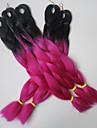 24inch 100g svart&ros blå ombre två ton färgade Xpression snythetic långt hår jumbo twist fläta håret