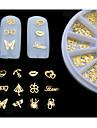 Vackert - Finger / Tå - 3D Nagelstickers - av Metall - 1set (120pcs) - styck mix sizes - cm