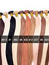 anna bresilien i-tip extensions de cheveux de 0,5 g / pcs lie baton keratine Je leve la fusion droite extensions de cheveux humains 50g /