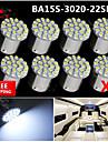 8x super lumineux blanc conduit 22 3020 BA15S cms 1156 signalisation arriere de voiture de tour ampoule 12v