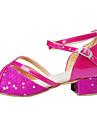Zapatos de baile ( Rosa / Plata / Oro ) - Latino - No Personalizables - Tacon Bajo