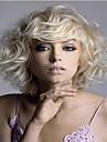 ny produkt kvinnor dam blond charmig kort syntheic peruk