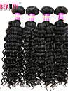 """4 st / lot 8 """"-30"""" 7a peruanska jungfru hår vinkar djupt mänskliga hårwefts 100% obearbetat peruanska remy hår väver"""