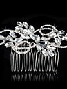 Women\'s Alloy Headpiece-Wedding / Special Occasion Hair Combs 1 Piece Clear