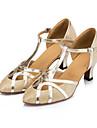 Chaussures de danse(Autre) -Non Personnalisables-Talon Bobine-Satin Paillette Brillante-Moderne