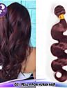 """1 st / lot 14 """"-24"""" peruanska jungfru hår förkroppsligar vinkar färg 99j obearbetat rå människohår väver"""