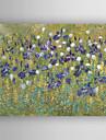 HANDMÅLAD Abstrakt / Blommig/BotaniskModerna / Realism En panel Kanvas Hang målad oljemålning For Hem-dekoration