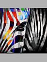 oljemålning modern abstrakt ren handen dra redo att hänga dekorativa zebra oljemålning