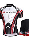 NUCKILY® Cykeltröja med shorts Unisex Kort ärm CykelVattentät Andningsfunktion UV-Resistent Vattentät dragkedja Dragkedja fram Inbyggd