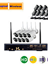 8CH 960P/720P Megapixel Wireless IP HD Camera NVR Kit