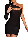 XiXiangYi® Sexy One-shoulder Cotton and Spandex Mini Dress