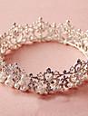 European Round Wedding/Engagement/Party/Brithday Headpiece Tiara with Rhinestone/Imitation Pearl