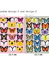 3d Stickers muraux stickers muraux, 19pcs papillons colores muraux PVC autocollants