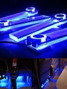 ZIQIAO 4 In 1 12V  Car Atmosphere Lamp Charge LED Interior Floor Decor Light
