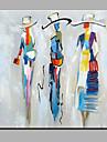 Peint a la main Personnage Carre,Moderne Un Panneau Toile Peinture a l\'huile Hang-peint For Decoration d\'interieur
