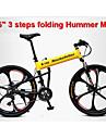 Velo tout terrain Velo pliant Cyclisme 21 Vitesse 26 pouces/700CC Unisexe Adulte Shimano Frein a Disque Fourche de suspensionCadre en