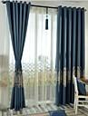Două Panouri Tratamentul fereastră Neoclasic Dormitor Amestec de In/ Poliester Material Blackout Perdele Draperii Pagina de decorare For
