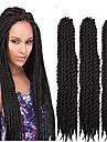 3packs 12-24inch havana mambo twist fläta hår syntetisk svart Kanekalon kinky marley vändningar fläta hårförlängning