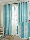 Två paneler Fönster Behandling Europeisk Bedroom Linne/Bomull blend Material gardiner draperier Hem-dekoration For Fönster
