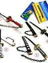 Vapen / Svärd Inspirerad av One Piece Roronoa Zoro Animé Cosplay Accessoarer Svärd Vit / Svart / Röd Legering Man / Kvinna