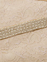 Satin Wedding / Party/ Evening / Dailywear Sash-Beading / Pearls / Crystal / Embroidery Women\'s 98 ½in(250cm)Beading / Pearls / Crystal /