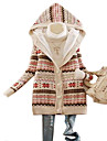 New 2014 Women\'s Snowflake Printed Fleece Thickening Hooded Sweater
