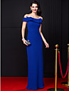 TS Couture® Formal Evening Dress Sheath / Column Off-the-shoulder Floor-length Chiffon with Bow(s)
