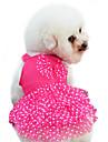 Câine Rochii Îmbrăcăminte Câini Modă Buline Nod Papion Galben Rosu Albastru Roz