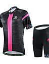 CHEJI® Maillot et Cuissard de Cyclisme Femme Manches courtes VeloRespirable / Sechage rapide / Resistant aux ultraviolets / Materiaux