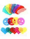 forte double salle de ventouse en plastique magique double face aspiration paume pvc ventouse (couleur aleatoire)
