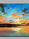 oljemålning modern abstrakt ren handen dra redo att hänga dekorativa havet smälte in i himlen