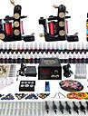 Kit de tatouage complet 2 Machine a tatouage x alliage pour la doublure et l\'ombrage 2 Machines de tatouage LCD alimentationEncres