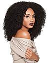 stora vackra hår syntetisk spets front peruk 3c-whirly färg # 1 kolsvart