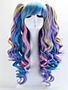 Perruques de lolita Gothique / Doux Degrade de Couleur Long Incanardin / Bleu Perruques de Lolita 70 CM Perruques de Cosplay Mosaique