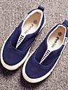 Garcon / Fille-Exterieure / Decontracte / Sport-Bleu / Blanc / Noir et rouge-Talon Plat-Confort / Bout Arrondi-Mocassins et Slip-Ons-Toile