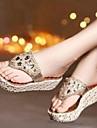Damskor - Konstläder - Kilklack - Komfort - Sandal - Formellt - Guldfärgad