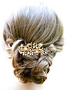 Golden /Silver Pearl Flower Hair Comb for Wedding Party Hair Jewelry
