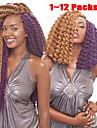 nya produkter syntetiskt hårfärg 27 # Havanna jumbo twist flätor 24inch syntetiska twist virka flätor hårförlängningar