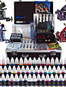 Kit de tatouage complet 4 machine x tatouage en alliage pour la doublure et l\'ombrage 4 Machines de tatouage LCD alimentationEncres