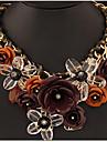 Pentru femei Coliere cu Pandativ Coliere Flower Shape Bijuterii Piatră Preţioasă Aliaj bijuterii de lux plaited Festival/Sărbătoare