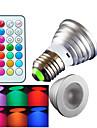 4W E26/E27 LED-spotlights MR16 1 Högeffekts-LED 300 lm RGB Dimbar / Fjärrstyrd / Dekorativ AC 100-240 V 1 st