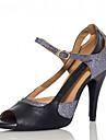 Chaussures de danse(Argent) -Personnalisables-Talon Personnalise-Similicuir-Latine Samba Salsa