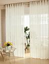 Två paneler Modern Solid / Rand / Polka dots Vit Living Room Polyester Sheer gardiner Shades