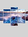 Paysage / Moderne Toile Cinq Panneaux Pret a accrocher , Format Horizontal