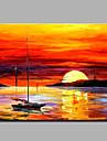 oljemålning modern abstrakt ren handen dra redo att hänga dekorativa solnedgången scenen