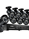 ZOSI® 8CH H.264 HDMI 960H DVR 8pcs 800TVL IR Day Night Outdoor CCTV Camera Security System