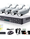 Liview® 4CH HDMI 960H Network DVR 900TVL Outdoor Day/Night Security Camera System