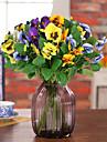 1 piecehigh papillon de qualite des fleurs d\'orchidees fleur de soie fleurs de soie fleurs artificielles pour decoration de la maison (jaune)